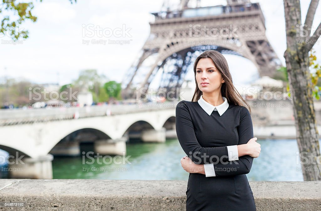 Young Woman Overcoming Difficulties (France) stock photo