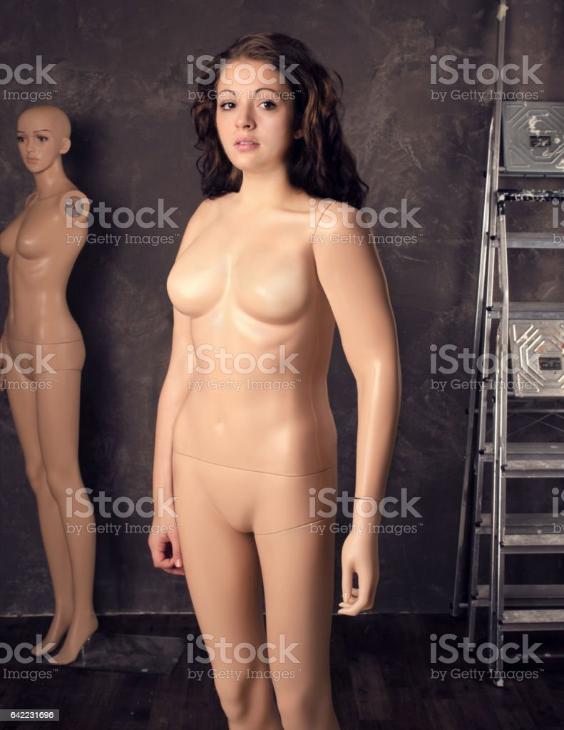 Young woman part mannequin dummy, fashion female body concept. stock photo
