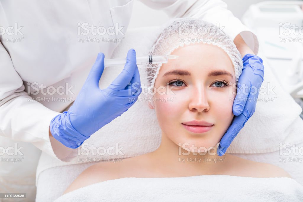 Young Woman Patient Receiving Plastic Surgery Injection Stock Photo Download Image Now Istock