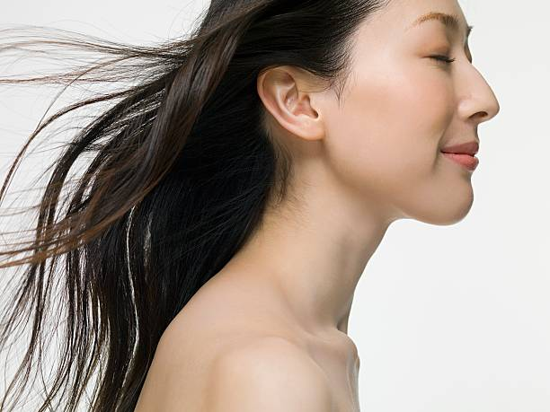若い女性 - 女性 横顔 日本人 ストックフォトと画像