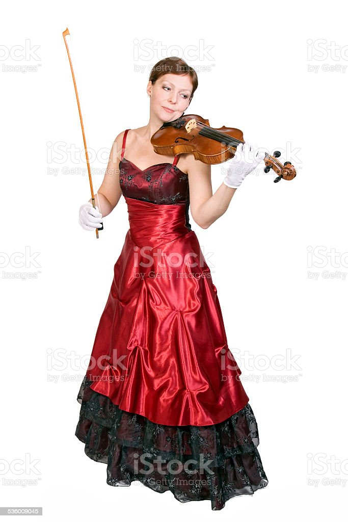 young woman plays the viola stock photo