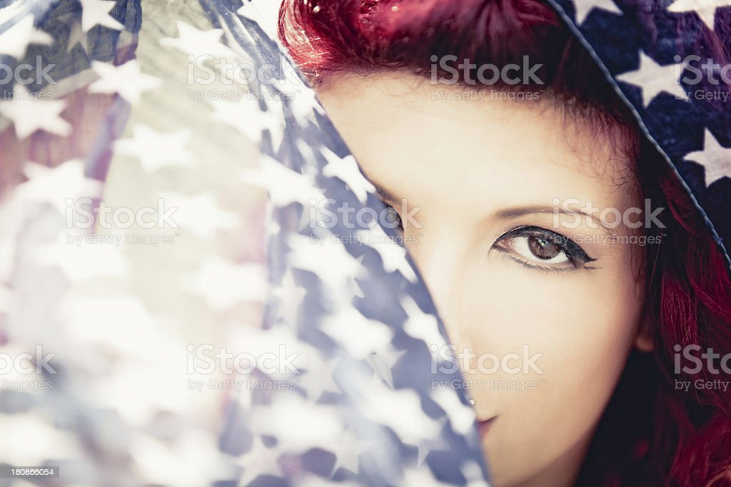 Young woman portrait on the beach royalty-free stock photo