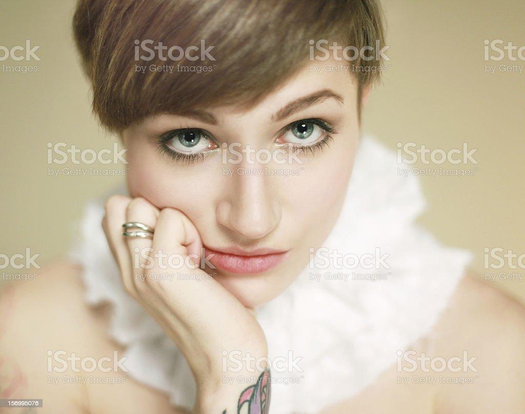 Young woman portrait. Studio shot royalty-free stock photo