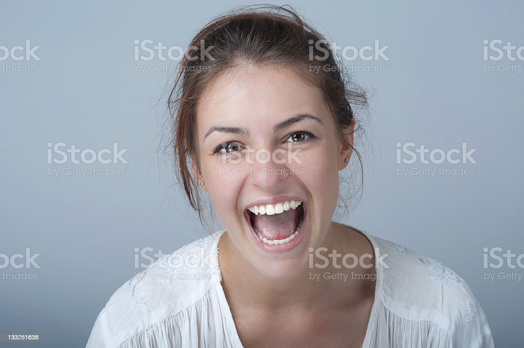 young woman portrait with a toothy smile royalty-free stock photo