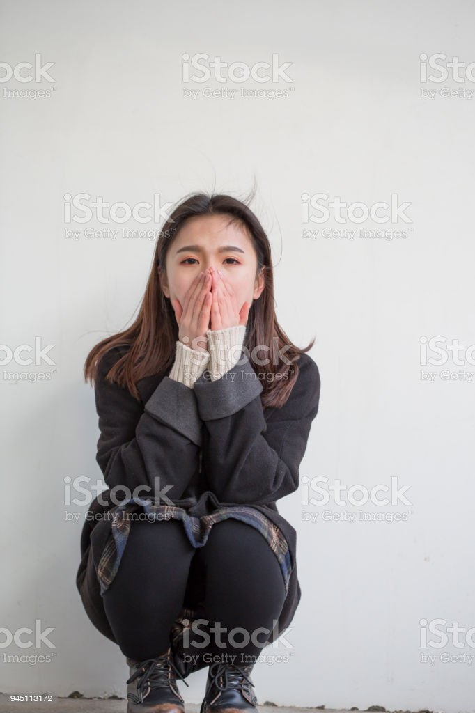 Young woman has negative emotions