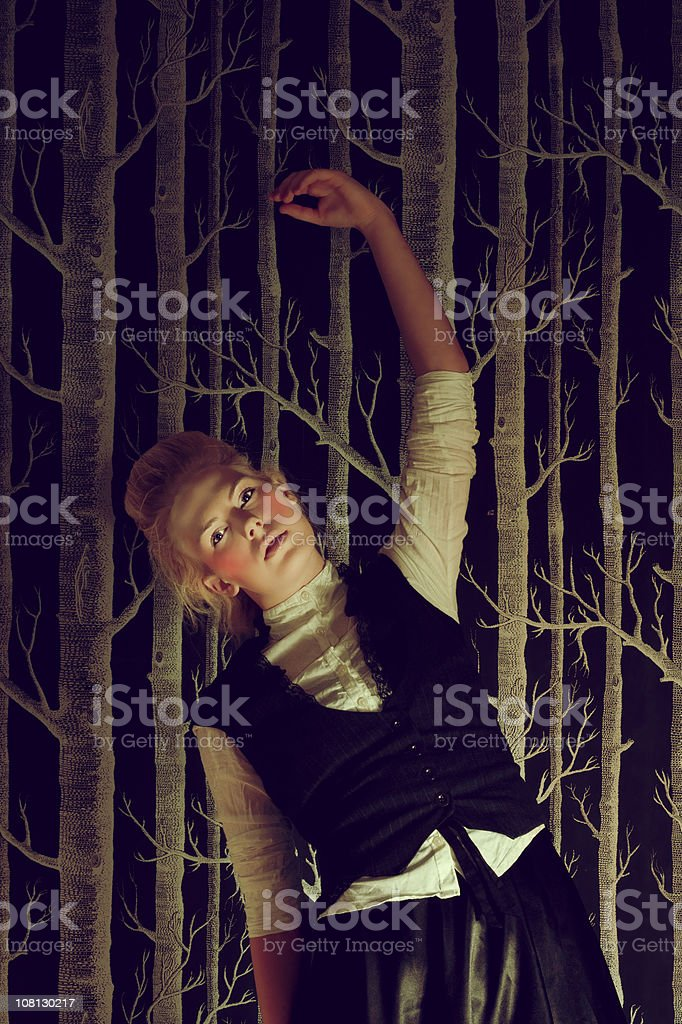 Young Woman Posing Like a Doll royalty-free stock photo