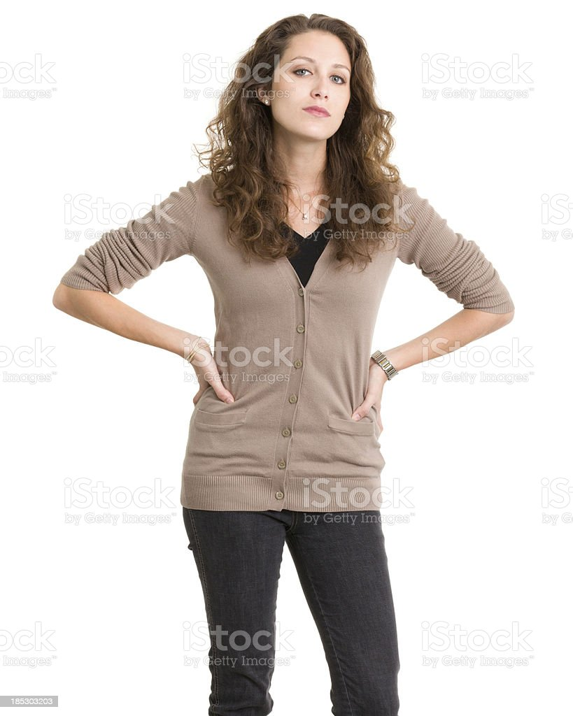 Young Woman Posing With Attitude stock photo