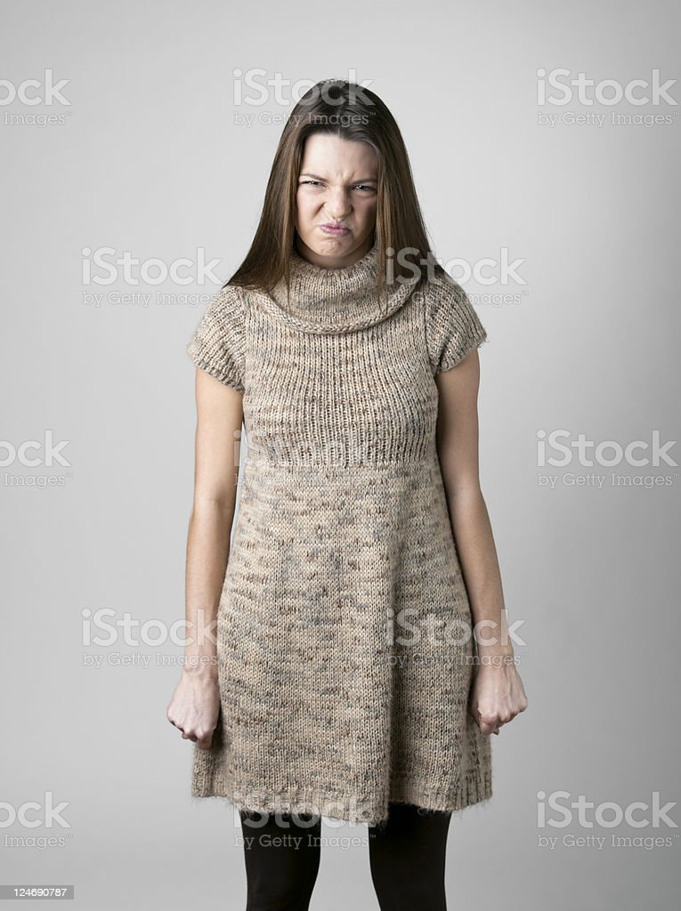 Young Woman Pouting royalty-free stock photo