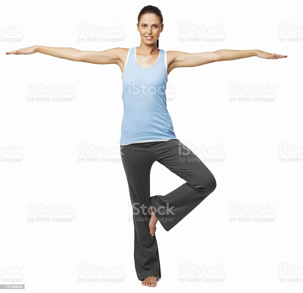 Young Woman Practicing Yoga - Isolated stock photo