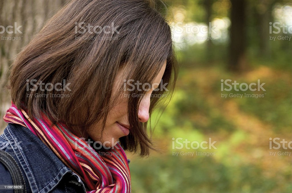 Young woman profile royalty-free stock photo