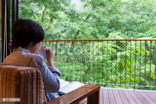 1074745976 istock photo Young Woman Reading Book 801269936