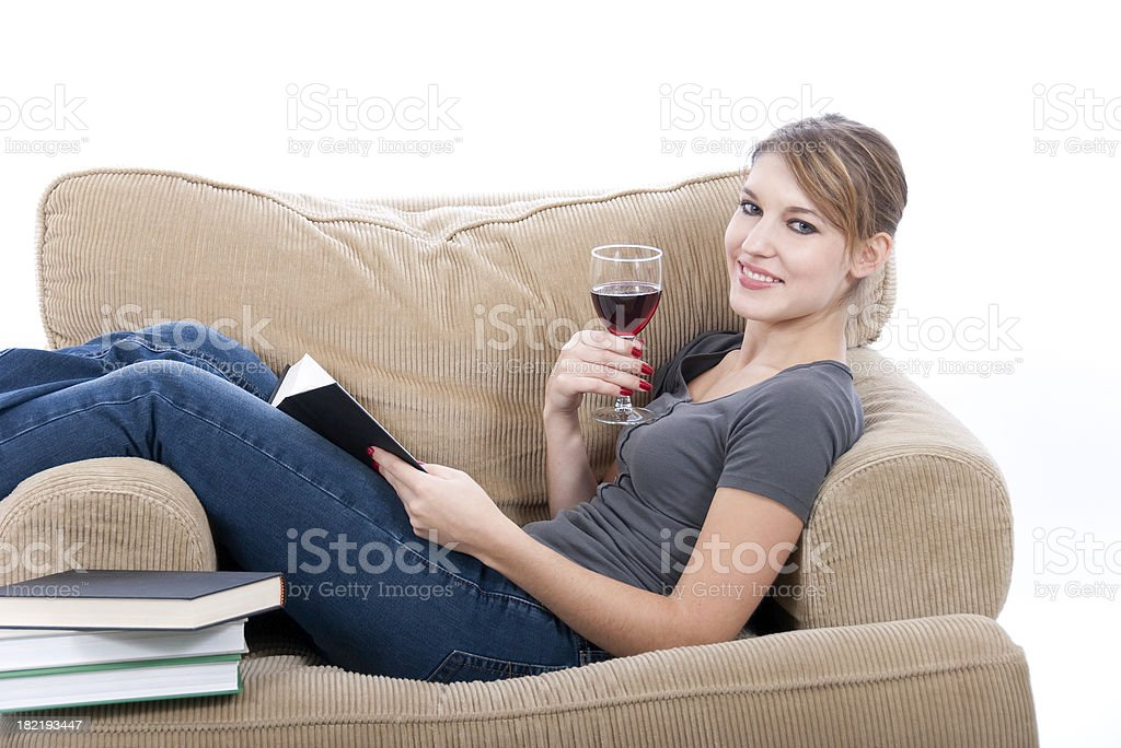 Young Woman Reading Series royalty-free stock photo
