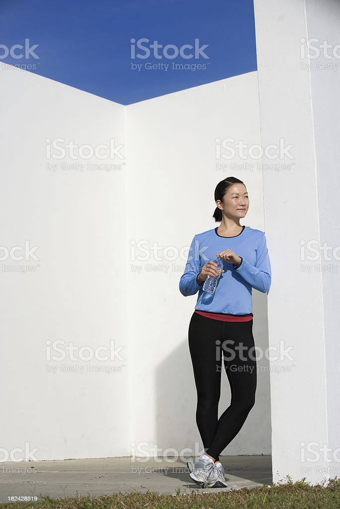 young woman ready to exercise royalty-free stock photo
