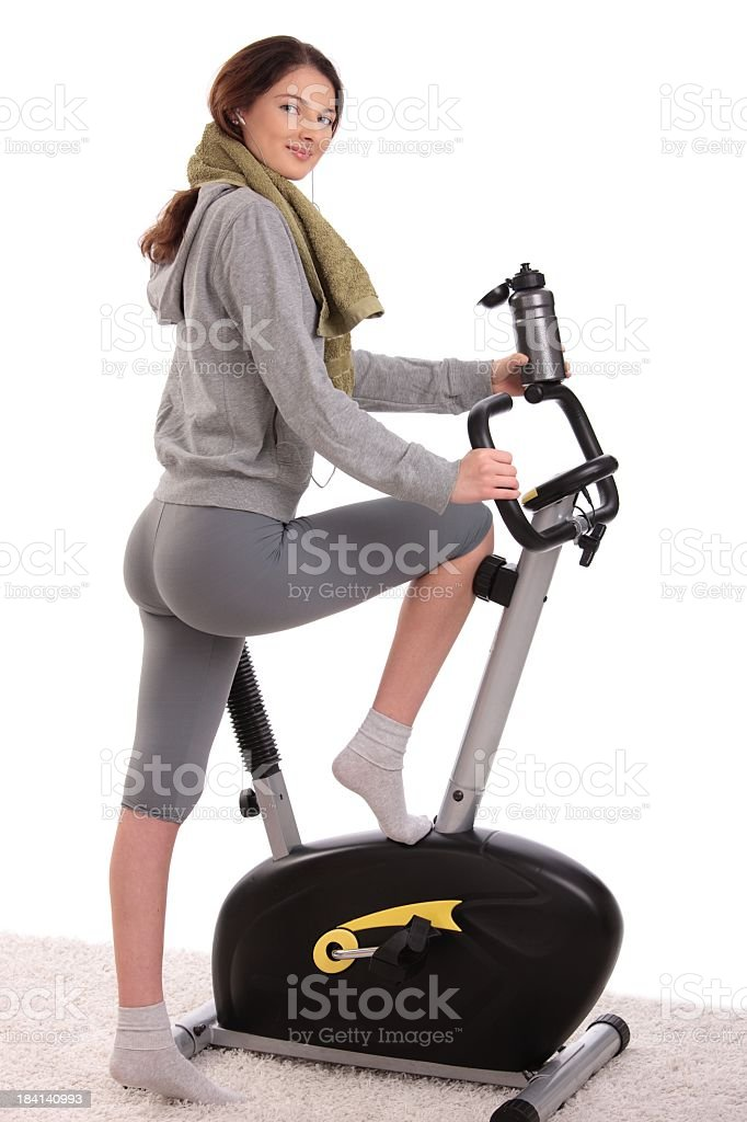 Young woman ready to start training royalty-free stock photo