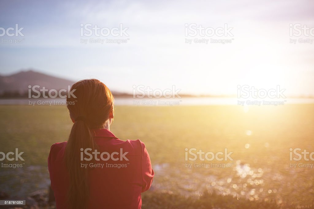 Young woman relaxation stock photo