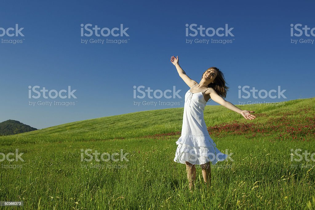 Young woman relaxing royalty-free stock photo