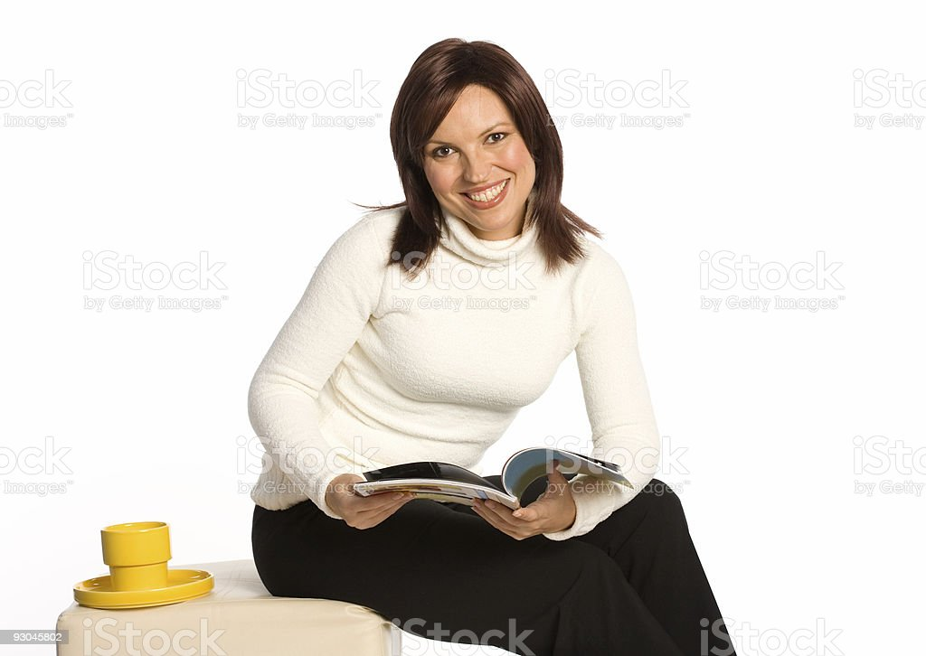 Young woman relaxing stock photo