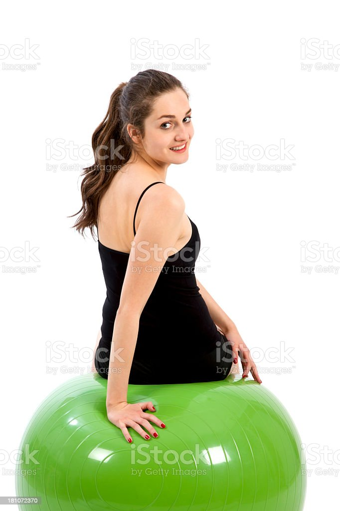 Young woman resting after excercising royalty-free stock photo
