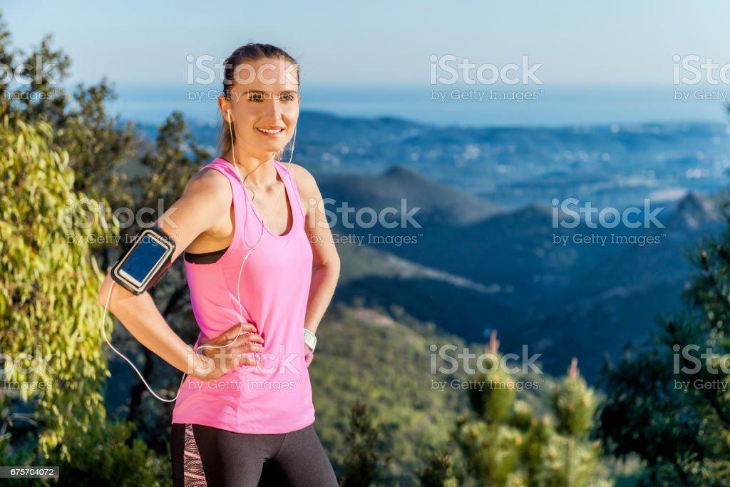 年輕女人休息 & 準備運動 免版稅 stock photo