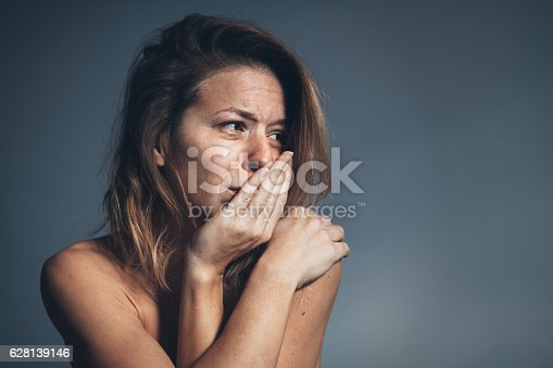 istock Young woman sad and depressed 628139146