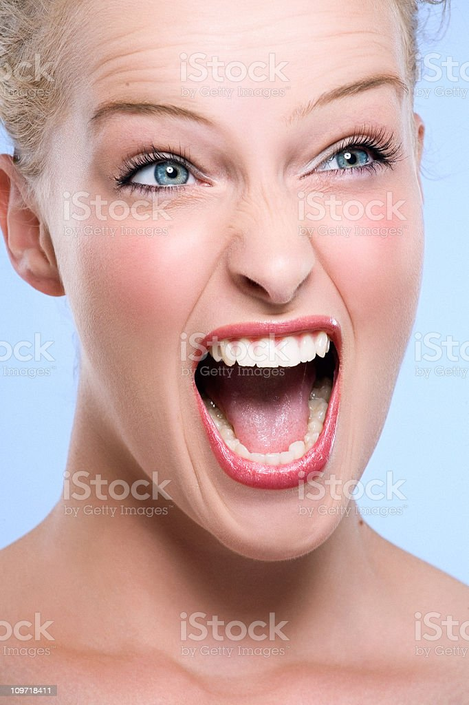 Young Woman Screaming royalty-free stock photo