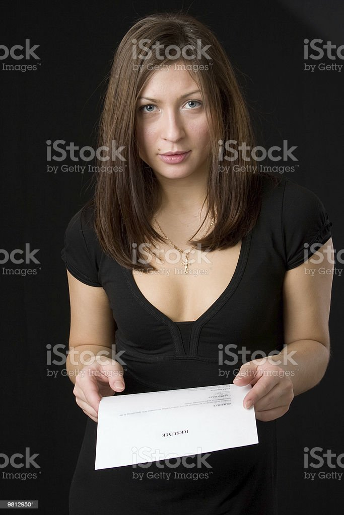 Young woman searches for work. royalty-free stock photo