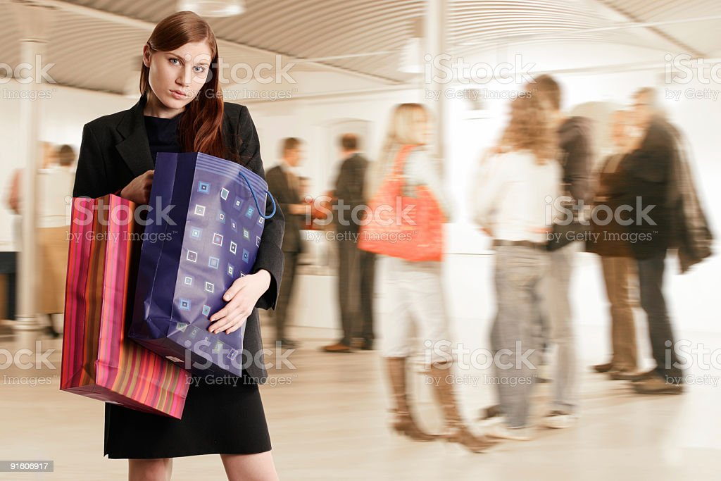 Young woman shopping royalty-free stock photo