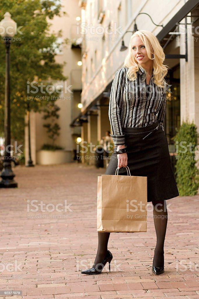 Junge Frau Shopping Lizenzfreies stock-foto
