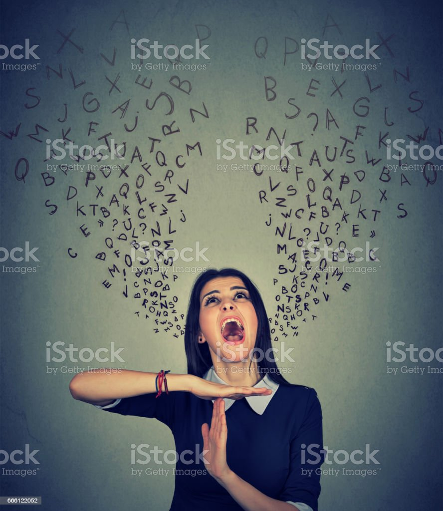 Young woman showing time out hand gesture stock photo