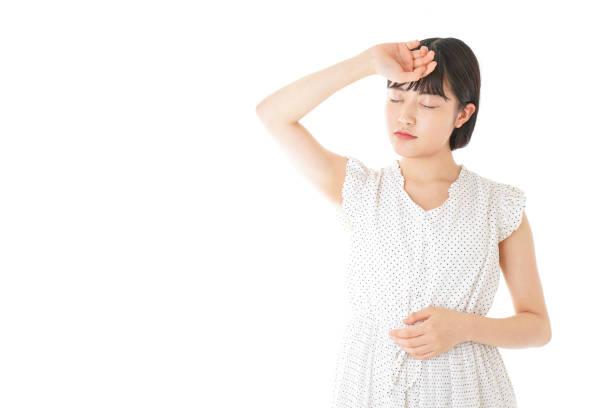若い女性の病気 ストックフォト