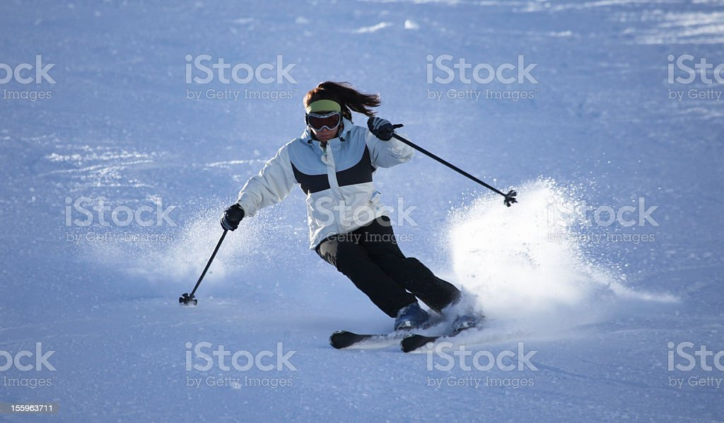 Young woman skier royalty-free stock photo