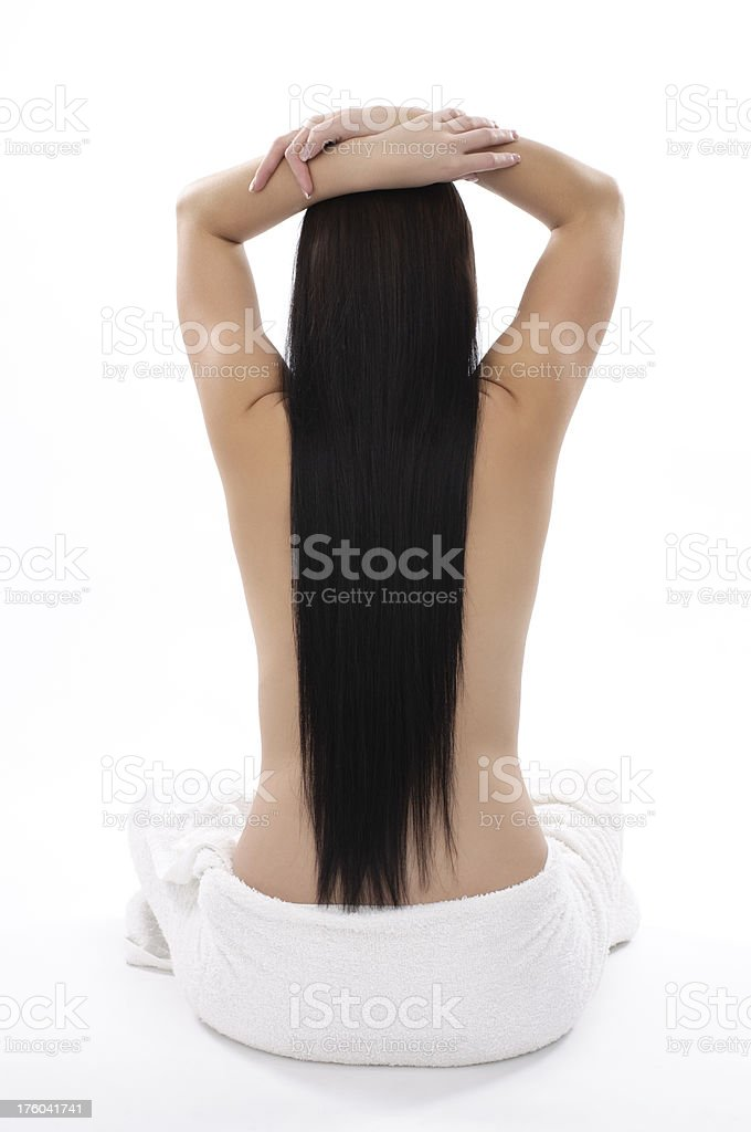 young woman skin care royalty-free stock photo