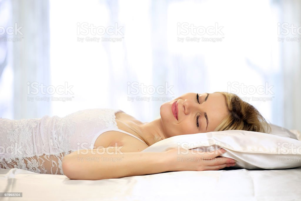 Young woman sleeping royalty-free stock photo