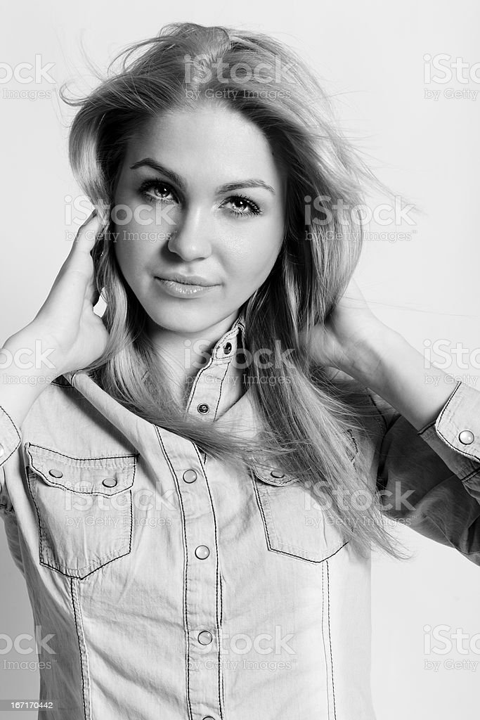 Young woman smile royalty-free stock photo