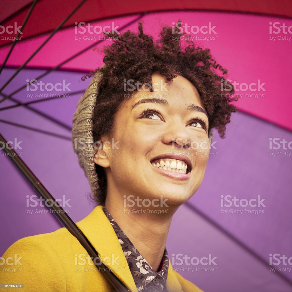 Young woman smiling royalty-free stock photo