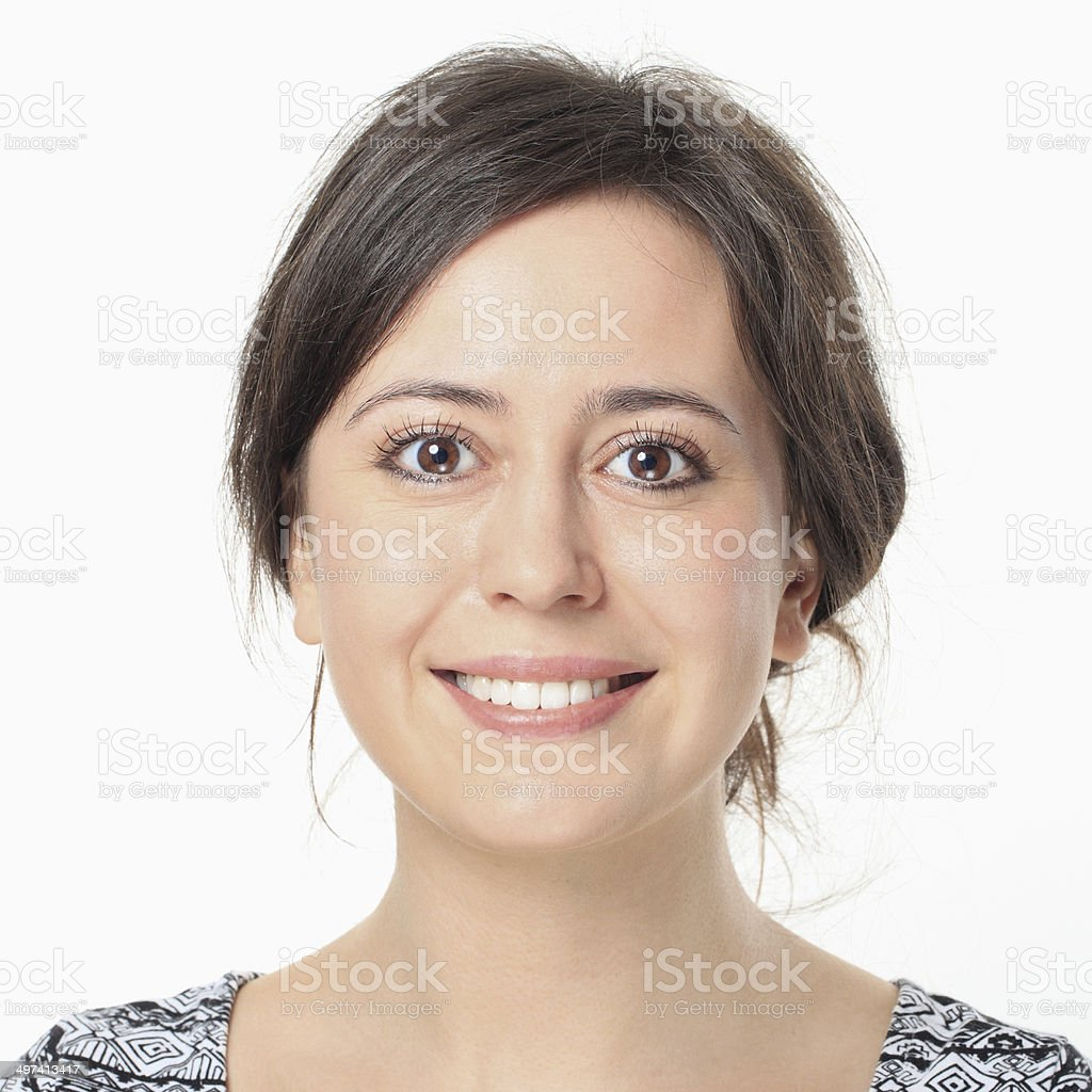 Young Woman Smiling Portrait. stock photo