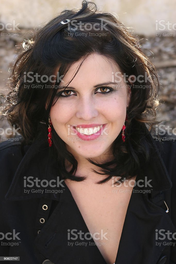 young woman smiling portrait royalty-free stock photo