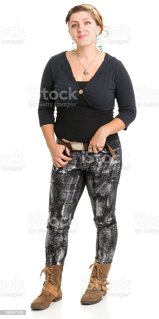 Young Woman Standing royalty-free stock photo