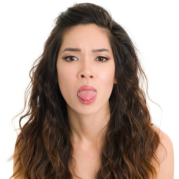 Sticking Out Tongue Bullying Women Adult Stock Photos