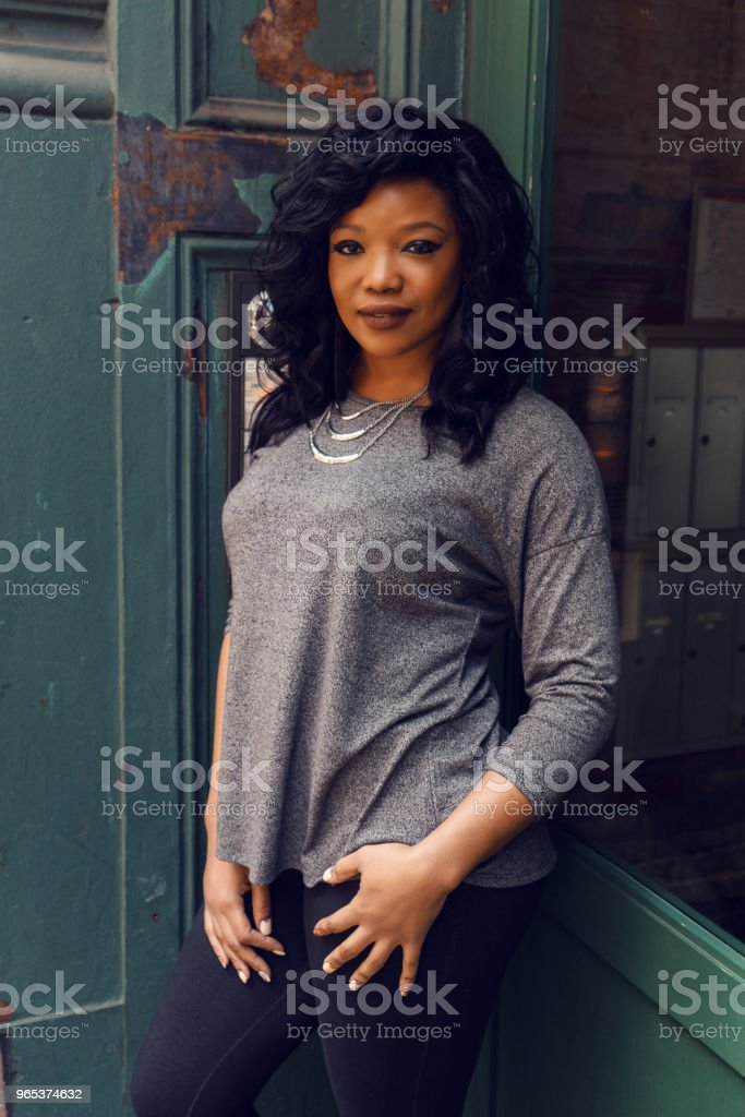 Young woman street portrait, New York royalty-free stock photo
