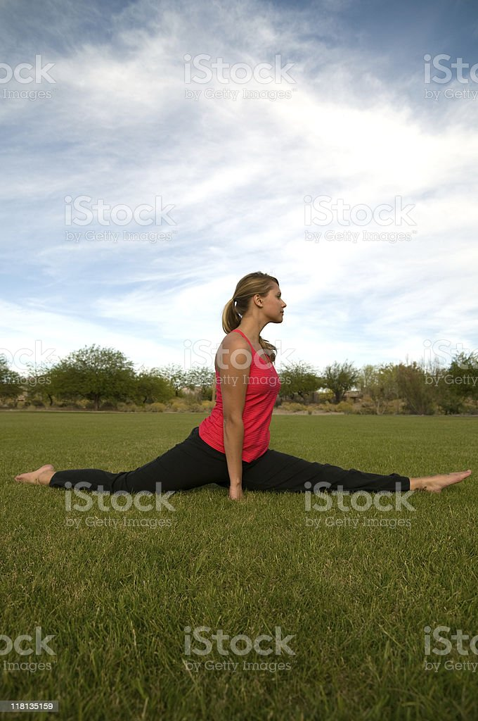 Young woman stretching. royalty-free stock photo