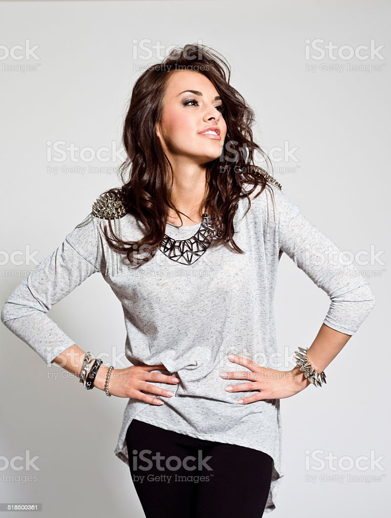 Young Woman, Studio Portrait - Royalty-free 20-24 Years Stock Photo