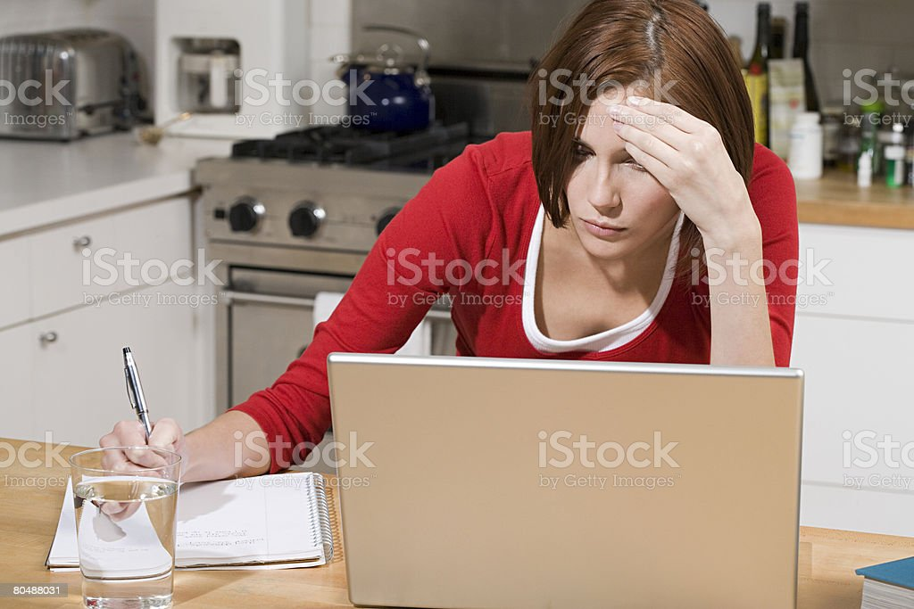 Young woman studying 免版稅 stock photo