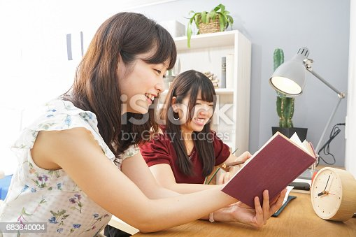 istock Young woman studying with her teacher 683640004