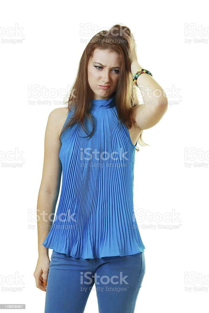 young woman suffering royalty-free stock photo