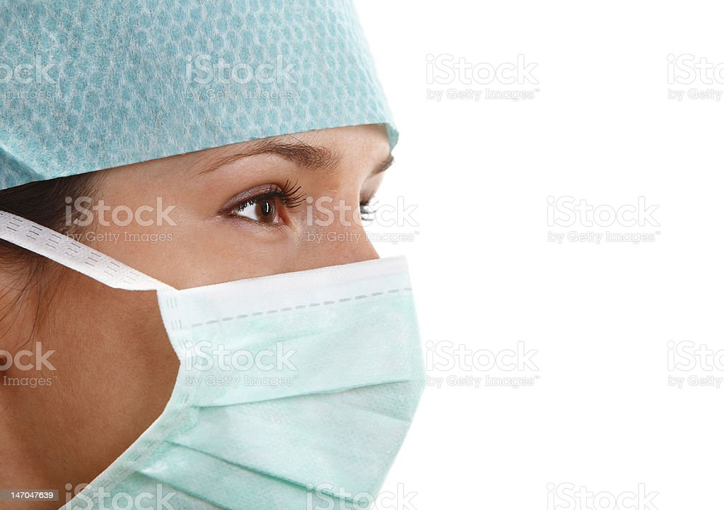 young woman surgeon royalty-free stock photo