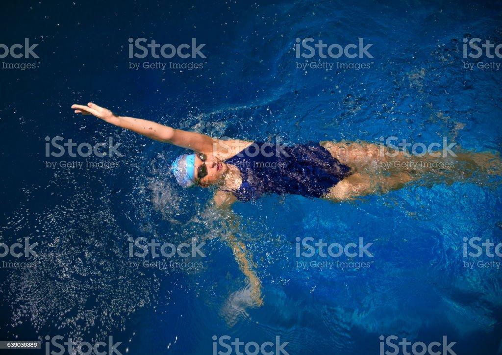 Junge Frau Schwimmer - Lizenzfrei Aktiver Lebensstil Stock-Foto