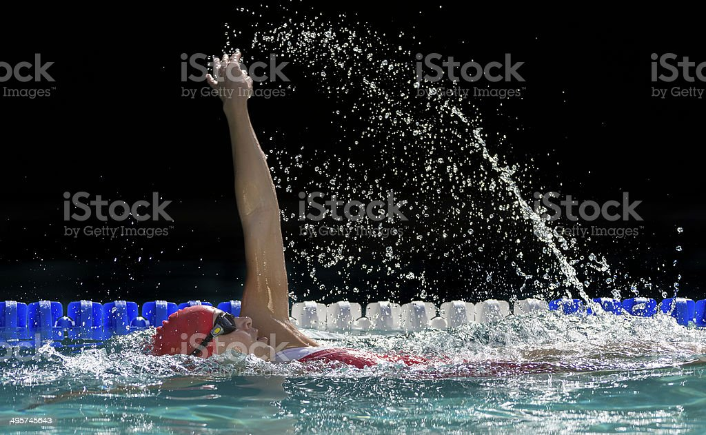 Young Woman Swimming stock photo