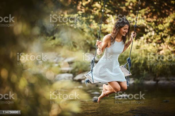 Young woman swings over stream picture id1147566951?b=1&k=6&m=1147566951&s=612x612&h=8n94txx3 zy9ox4w9qksmu8bwmgot6yory8wkfvufo4=