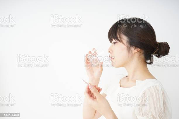 Young woman taking oral medicine picture id696224460?b=1&k=6&m=696224460&s=612x612&h=bstip5atry9ck7uywrbb6bn vtoz ixvkppazplqw6i=